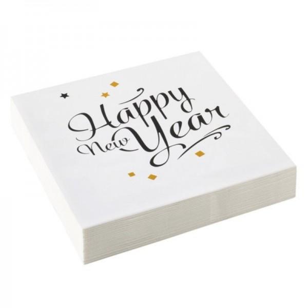 Servietten Happy New Year 33x33cm