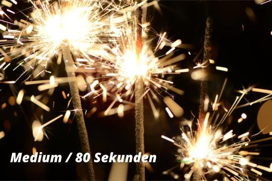 Wunderkerzen Medium 80 Sekunden - 10 Stück