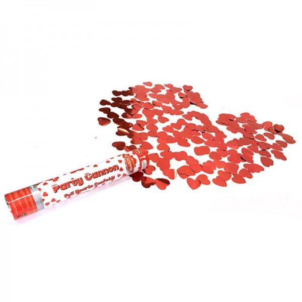 Premium Konfettikanone mit Herzformen