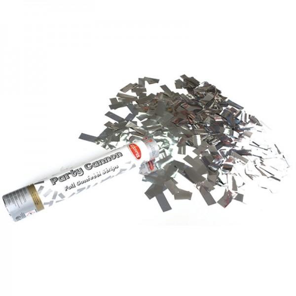 Premium Konfettikanone mit Silber