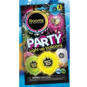 LED Ballone Happy New Year 15 Stunden LED Licht